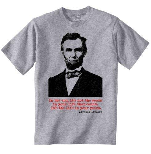 Abraham Lincoln American President–New Graphic Grey Camiseta de S Gris gris