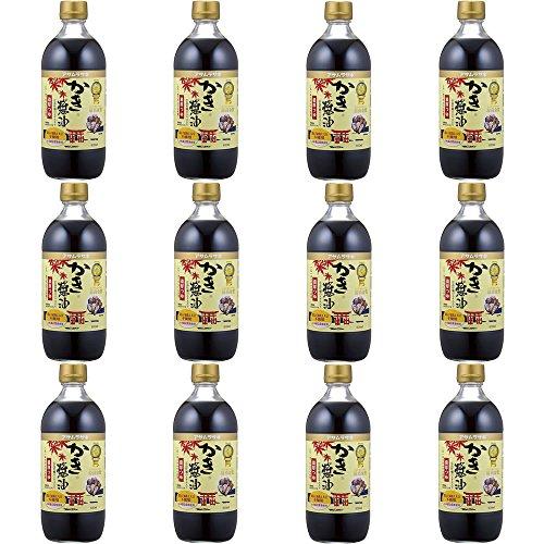 【セット品】アサムラサキ かき醤油 600ml×12本