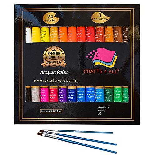 ارخص مكان يبيع طلاء أكريليك طقم 24 لون من كرافت