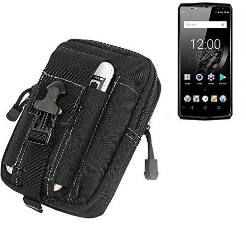 K-S-Trade Gürtel Tasche Für Oukitel K10 Gürteltasche Holster Schutzhülle Handy Hülle Smartphone Outdoor Handyhülle Schwarz Zusatzfächer