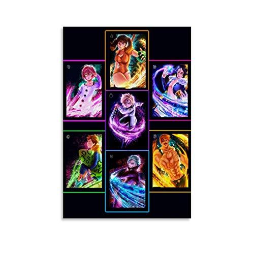 QINGF The Seven Deadly Sins - Póster de animen 4K HD para pared (40 x 60 cm)