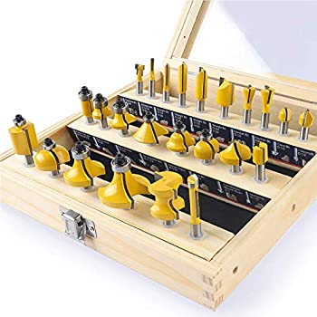 KOWOOD  router bit set  of 24 Pieces ¼ inch shank