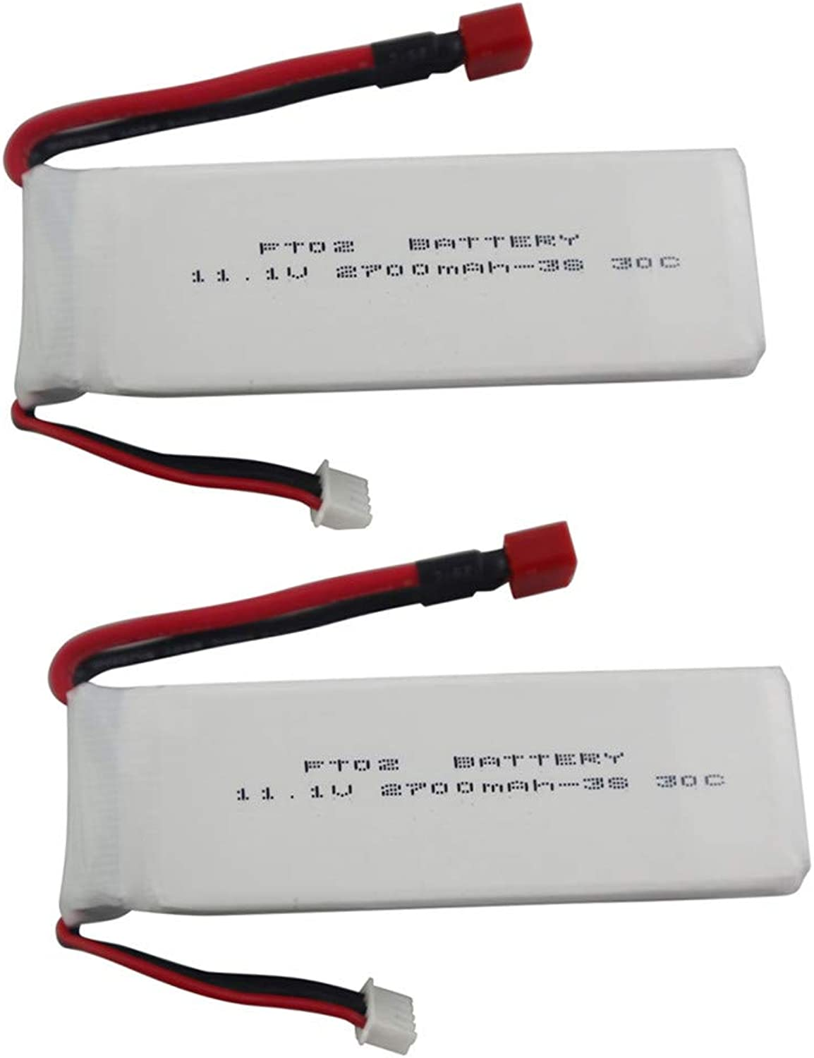 Sea jump 2PCS 11.1V 2700mah Lithium Battery for Feilun FT012 Remote Control Speedboat SUpgrade Battery Accessories RC Airplane Model THead High Rate Lithium Battery