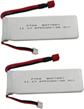 Fytoo 2PCS 11.1V 2700mah Lithium Battery for Feilun FT012 Remote Control Speedboat s Upgrade Battery Accessories RC Airplane Model T Head high Rate Lithium Battery