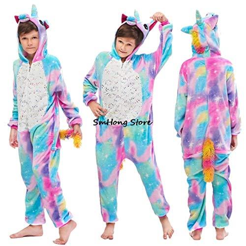 Weicher Winter-Pyjama für Mädchen, Einhorn-Pyjama, lustiges Cosplay-Kostüm, Panda, Tier-Cartoon-Schlafanzug