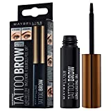 Maybelline New York Augenbrauenfarbe, Tattoo Brow Gel Tint, Mit Peel-off-Formel, Nr. 35 Black, 5 ml