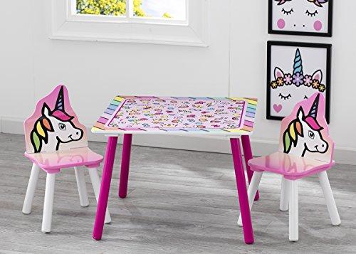Delta Children Unicornio - Juego de mesa y sillas, unisex