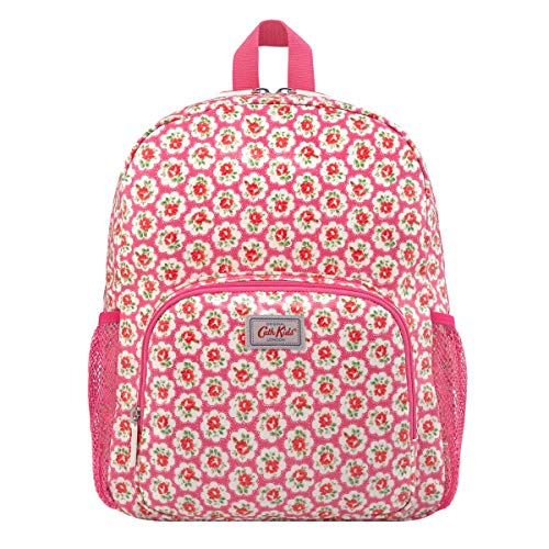 Cath Kidston Provence Rose Kids Classic Large Rucksack with Mesh Pocket In Raspberry
