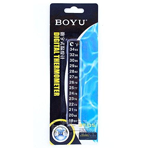 REY Termómetro Adhesivo para Pecera, Medidor de Temperatura para Acuario, Termómetro Sticker