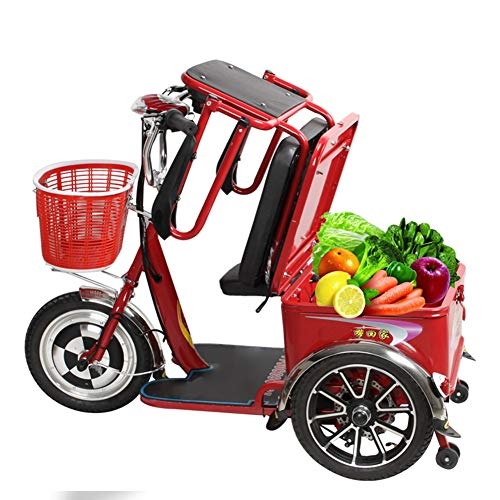 Zzuu Elektrische scooter, 4 wielen, voor senioren, scooters, seniorenvoertuigen, met polymeer-li-ion-accu, voor oudere mensen, volwassenen