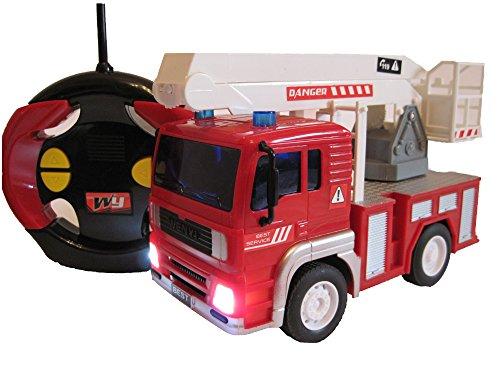 RC Feuerwehrauto ferngesteuertes Spielzeug Feuerwehr Auto Ferngesteuert NEU (Feuerwehrauto mit Hubleiter)*