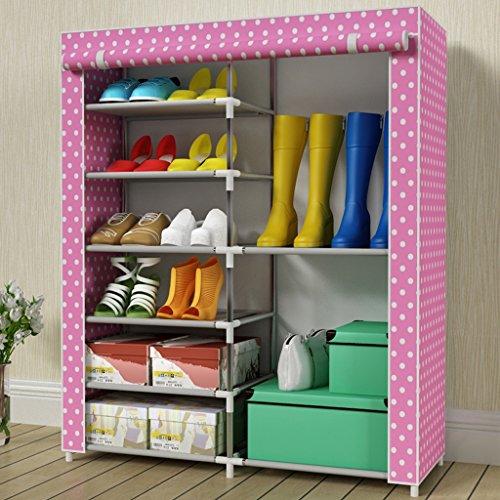 Chaussure Cabinet de Simple Tissu d'assemblage à Plusieurs Couches Ensemble de à Tuyau en Acier Économiseur Boîte à Pliable Anti poussière (Couleur : #5)