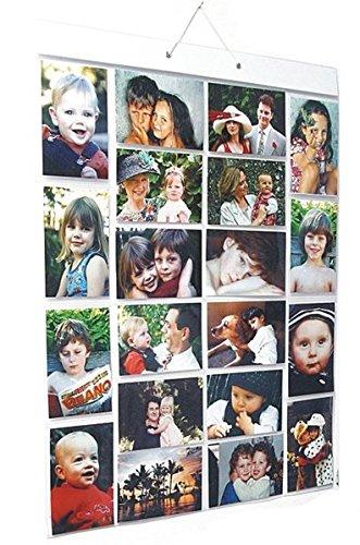 Poches photo Mega (Taille AA) Galerie Photo à Accrocher – 40 photos dans 20 poches (réversible) à plat Emballage à plat Large (A) Flat - 20 4x6\