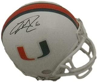 Lamar Miller Autographed/Signed Miami Hurricanes Mini Helmet 15699 - JSA Certified - Autographed College Mini Helmets