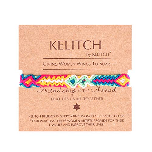 KELITCH Mano Intrecciata Corda Bracciali Cotone Filo Intrecciata Amicizia Bracciali Moda Jewelry(Colorato C)