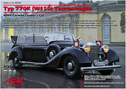 ICM ICM35533 Typ 770K W150 Tourenwagen WWII German Leader\'s Car