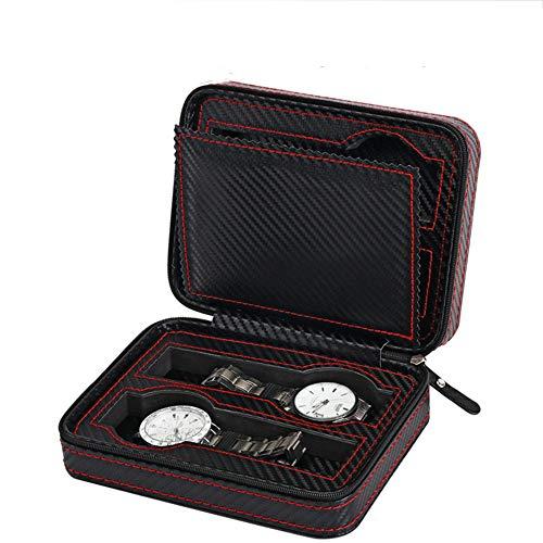 Caja de Almacenamiento Grande Viaje Reloj Lleva el Bolso portátil Anti-Desgaste y...