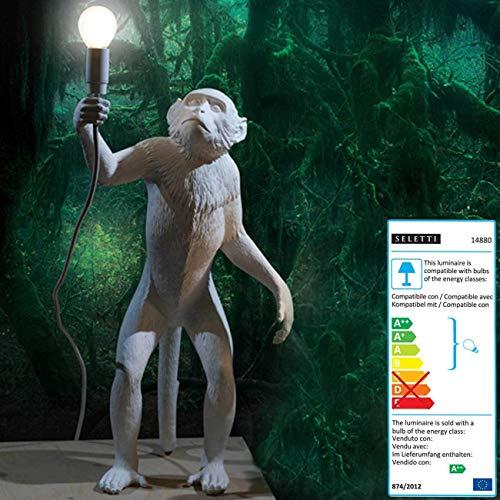 Seletti Lamp Aap Monkey White Standing
