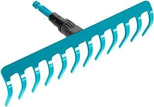 GARDENA combisystem hark: Praktische hark met 12 tanden, ideaal voor harken, onkruid verwijderen en grond bewerken, werkbr...