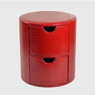 Ouzhoub Panier avec poignée, Haut de Gamme Creative PU Cuir des ménages Multi-Fonctionnelle Tabouret de Stockage (Color : ...
