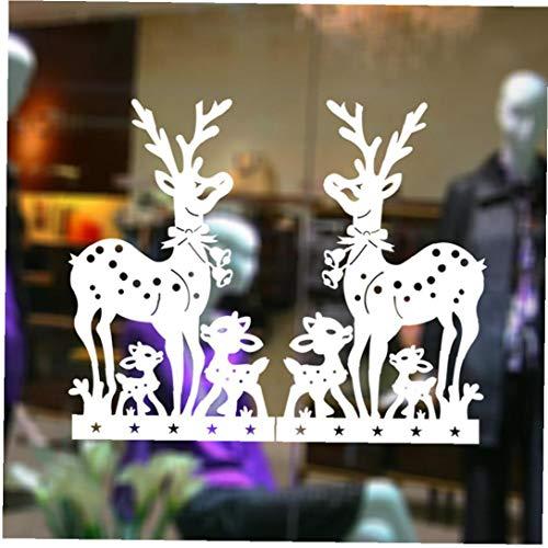 Case Cover 4 58x33cm Weihnachtsfenster-Aufkleber, Fensterdekoration, Weihnachts Sika Deer Static Aufkleber, benutzt für Haupt Adhesive Anzeige, Neujahr Glasgemälde