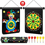 Magnetic Dart Board for Kids, Darts Game Set 6 Safe Magnetic Darts and 2-Sided Target in a Gift Box, Perfect Holiday or Birthday Gift for Boys & Girls