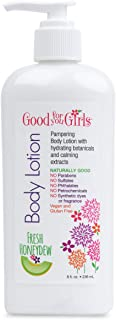Good For You Girls Body Lotion with Natural and Organic Ingredients; Aloe, Sunflower Seed Oil, Chamomile and Lavender, Paraben Free, Vegan and Gluten Free, For All Skin Types