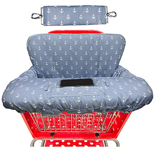 Shopping Cart Covers for Baby High Chair Cover-Waterproof-Universal fit-Reversible Baby Cart Cover for Babies and Toddlers Girls and Boys-Large