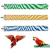BundleMall poste de pie para pájaros y loros, accesorios para jaulas de pájaros, cuerda para patas para loros, loros, agapornis y ratones, juguetes deportivos (XL: 8 x 1 pulgadas, A-3 unidades)