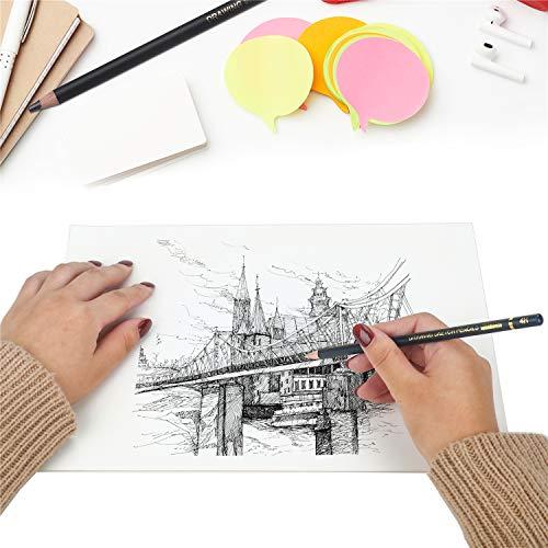 TAMATA Professional Drawing Sketching Pencil Set - 12 Pieces Art Drawing Graphite Pencils(12B - 4H), Ideal for Drawing Art, Sketching, Shading, for Beginners & Pro Artists Photo #6