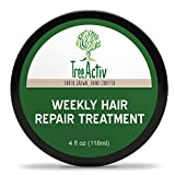 TreeActiv Weekly Hair Repair Treatment, Once A Week Natural Deep Conditioner, Revitalize Dry Damaged...