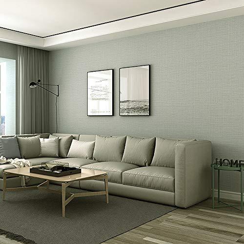ZHAORLL Moderne 3D einfache graue einfache tapete PVC einfarbig Nachahmung Silk Schlafzimmer...