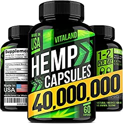 Vitaland Hemp Capsules 400,000 - best CBD capsules on Amazon