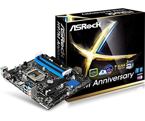Asrock H97M ANNIVERSARY Mainboard Sockel 1150 (Micro ATX, Intel H97, DDR3 Speicher, USB 3.0, SATA III)