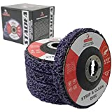Stadea SDA102K Strip Clean Disc 4-1/2' Paint Rust Weld Stripper Remover Stripping Disc for Angle Grinder - Pack of 5, 7/8' Arbor