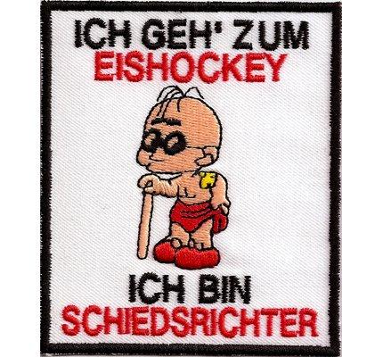 Patch Fussball-Eishockey - Aufnäher Anti Schiedsrichter Blinder - Spass Pfeife