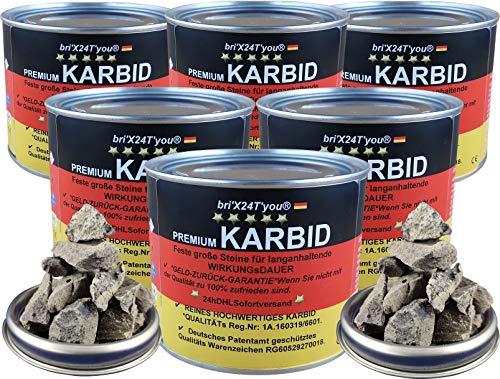 bri\'X24T\'you® Karbid***NEU** 3,00KG Premium KARBID (AGRAR1Abfl.Ql.Rg.180719K 22-34) Alt Bewährt und sehr Ergiebig (6 x 0,500KG=3.00KG)