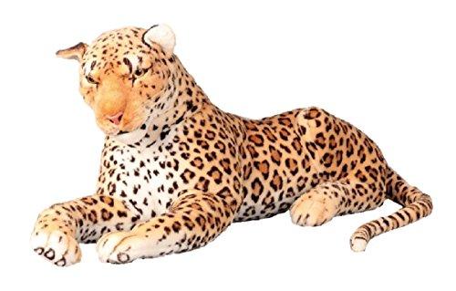 Leopard XXL Plüschtier 110 cm Kuscheltier Softtier Raubkatze Stofftier