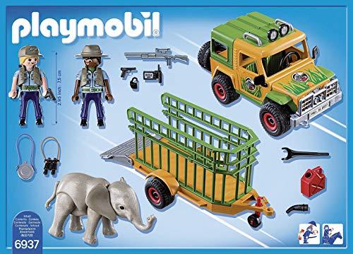 PLAYMOBIL Wild Life, 6937 Camión con Elefante, A partir de 4 años