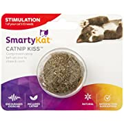 SmartyKat, Catnip Kiss, Cat Toy, Compressed Catnip Ball, Natural, Concentrated, Pure, Potent, Mess-Free