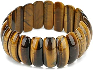 REBUY® Natural Tiger Eye Bracelets & Bangles Trendy Natural Stone Bracelet For Women & Men Jewelry