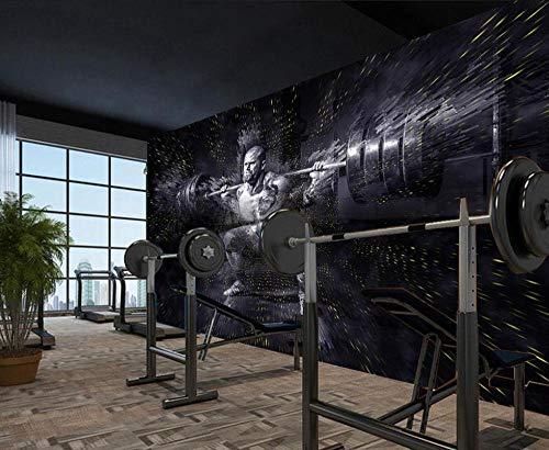 Ymangos 3D Selbstklebende Tapete Wandbild Gym Sport Langhantel Squat Workout Club 350 * 256 Cm Diy Leinwand Poster Dekoration Kunst Schönheitssalon Religiösen Fitnessstudio Wand Hintergrund
