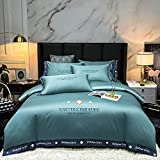 juegos de sábanas de 90 de oferta-Xiabei European Silk King doble cama cama individual cama individual cama individual cama individual cama individual cama individual-Volar_Cama de 2.0m (4 piezas)