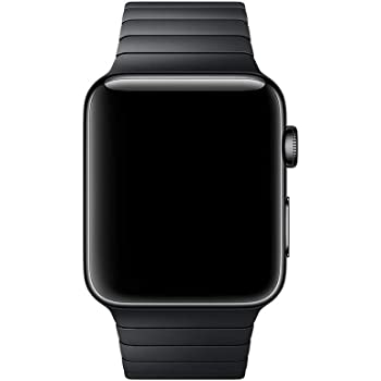 Smartwatch Band Stainless Steel Compatible for Apple Watch Series 3/2/1 (42mm) Serie 5/4(44mm) Butterfly Clasp Business (Black)