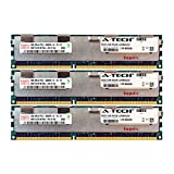 A-Tech Hynix 12GB Kit 3X 4GB PC3-10600 1.5V for Dell Precision Workstation Snpp9rn2c/8g A2626072 A2626093 A2862069 A2862074 A3721482 T5600 T7500 T7600 T5500 T5600 T7500 T7600 T5500 Memory RAM