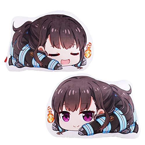 MEIBRI Fire Force Stuffed Pillow Doll Toy Anime Body Cushion Cute Xmas Gift Maki Oze