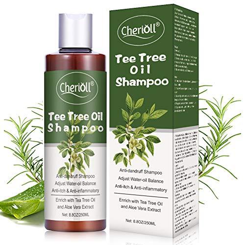 Teebaumöl Shampoo,Anti Dandruff Shampoo,Gegen Pickel auf der Kopfhau Für trockene, juckende und schuppige Kopfhaut,Linderung trockene Kopfhaut und juckendes Haar