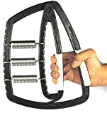 Hand Grip Strengthener With 3 Springs - Adjustable Resistance Range from 0 to 350 LBS (0 to 159KG) - Excellent tool to increase strength of hands, fingers and forearms - Recommended for Athletes, Sports Enthusiasts Such As Tennis, Golf, Body Builders, Rock Climbers, etc. Musicians And People Who Need To Recover From Injuries Like Tendonitis, Arthritis or Tennis Elbow - Heavy Duty For Ultra Durability - EXTREME Forearm Muscle Builder