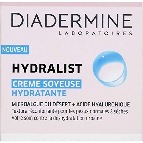 Diadermine Creme soyeuse hydratante, microalgue du desert + acide hyaluronique - Le pot de 50ml