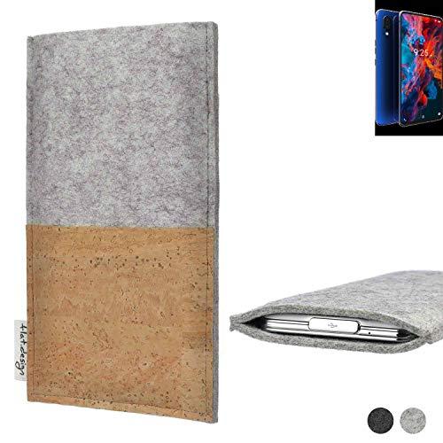 flat.design Handy Tasche Evora für Archos Diamond 2019 handgefertigte Handy Hülle Kork Filz Hülle fair Kartenfach